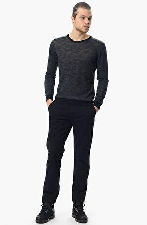 George Hogg Mikro Desenli Rahat Kesim Erkek Pantolon