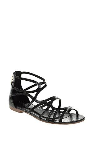 Dıvarese Baskılı Siyah Sandalet – 69.0 TL