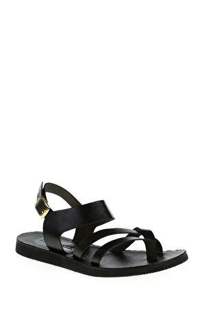 Dıvarese Bantlı Siyah Sandalet – 95.0 TL