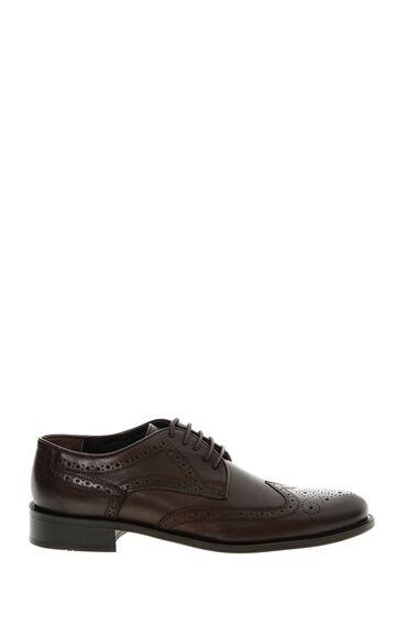 Zımbalı Tasarım Kahverengi Ayakkabı
