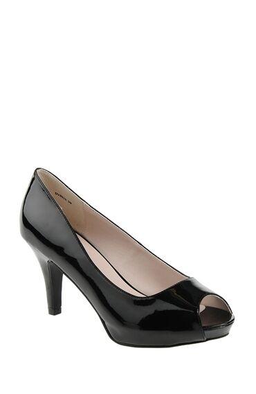 Açık Burun Siyah Topuklu Ayakkabı