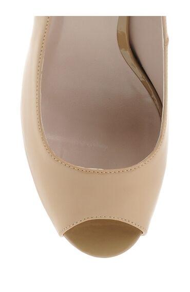 Açık Burun Bej Topuklu Ayakkabı