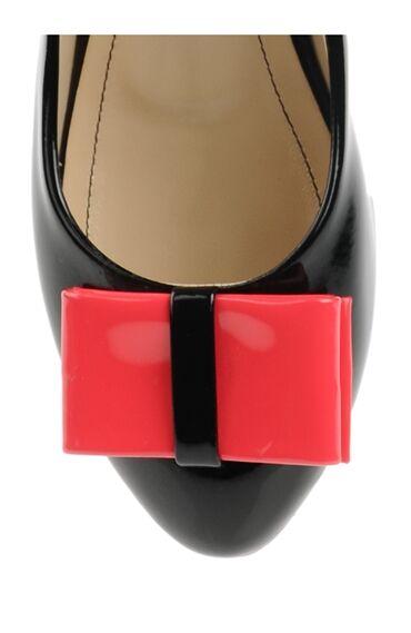 Alçak Topuklu Siyah Babet