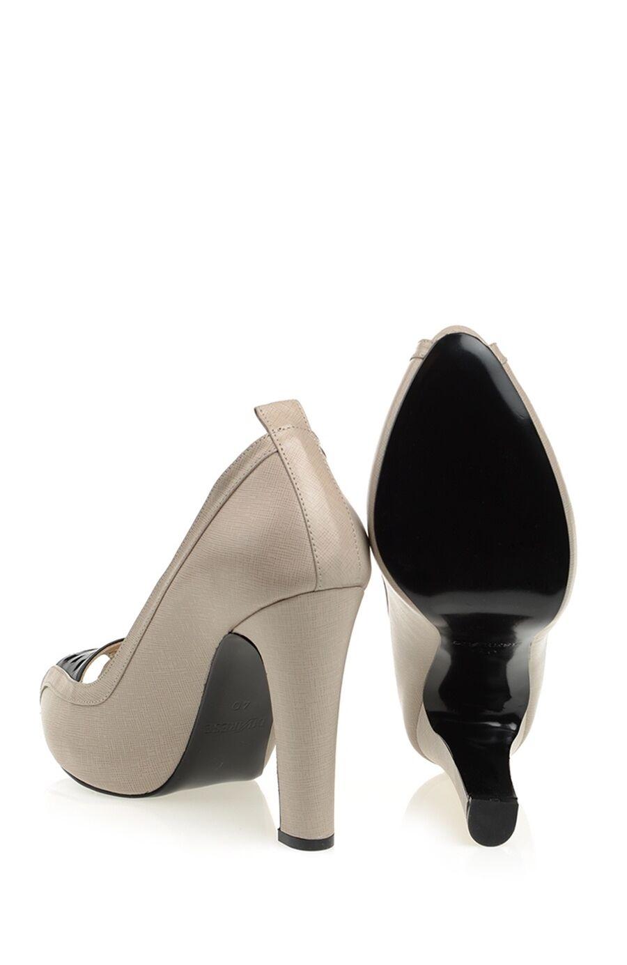 Vizon Rengi Platform Topuk Ayakkabı