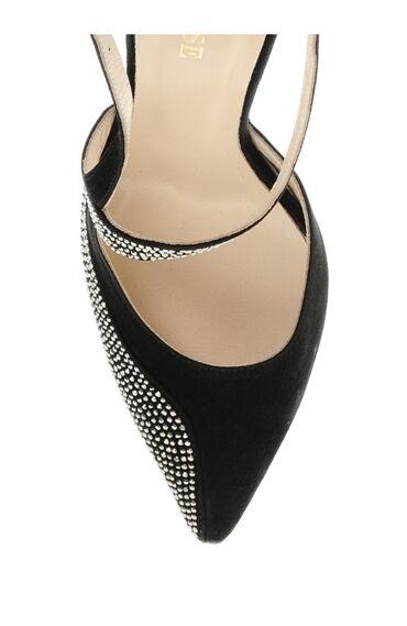 Süet Siyah Topuklu Ayakkabı
