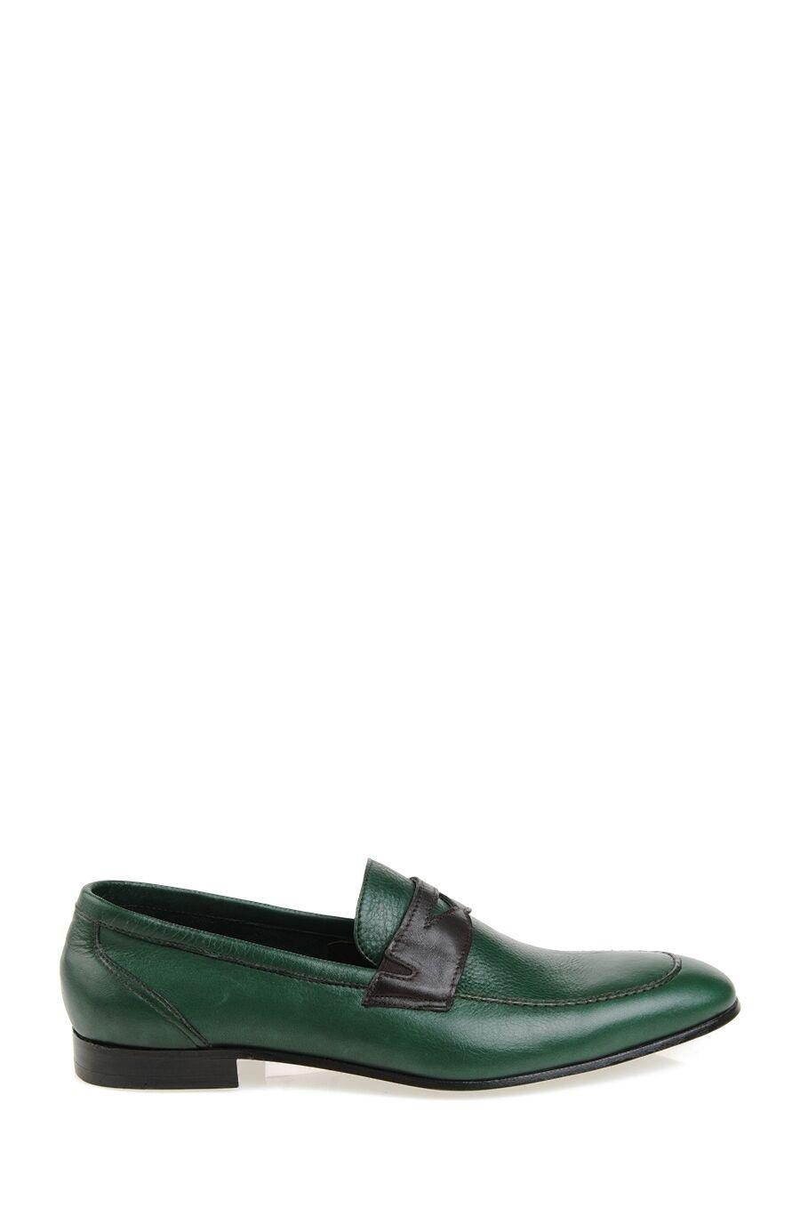Bantlı Yeşil Loafer Ayakkabı