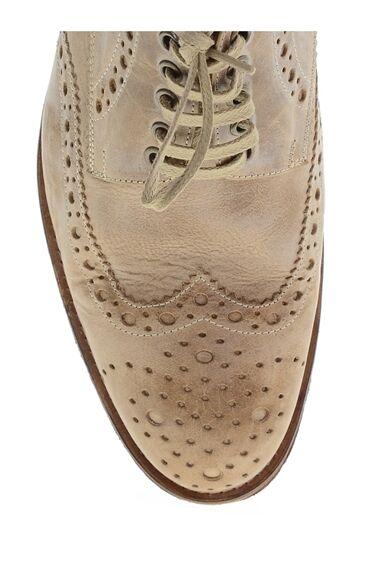 Bej Deri Ayakkabı