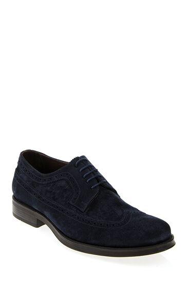 Bağcıklı Lacivert Süet Ayakkabı