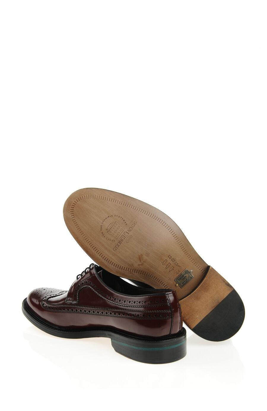 Bağcıklı Bordo Deri Ayakkabı