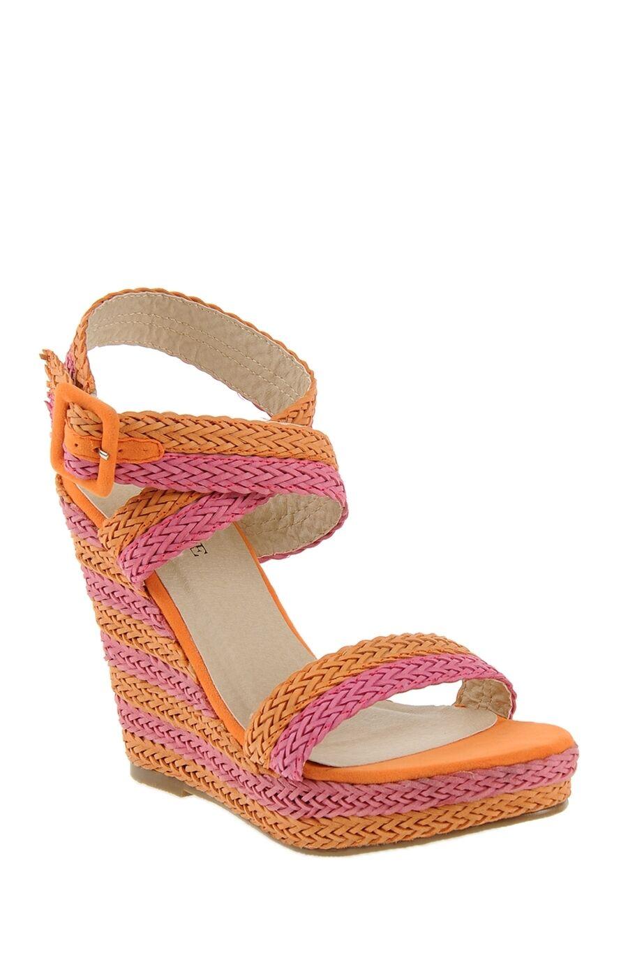 Pembe-Turuncu Çizgili Ayakkabı