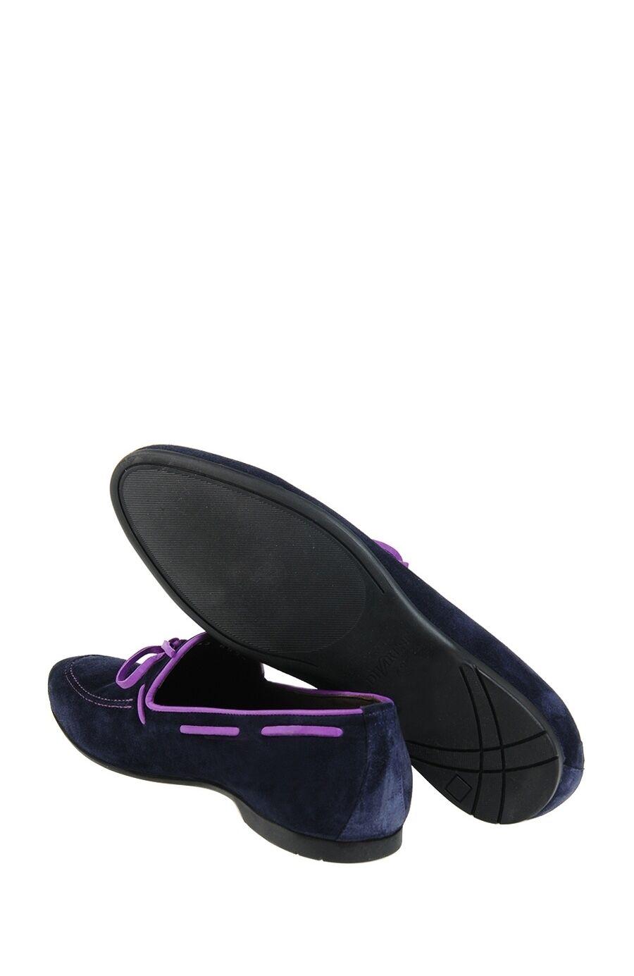 Lacivert Süet Loafer