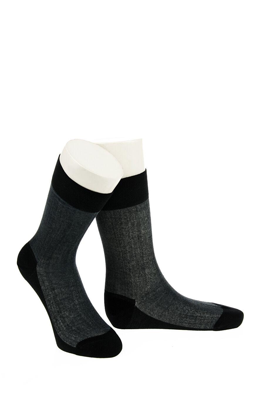 Jakarlı Desen Siyah Çorap