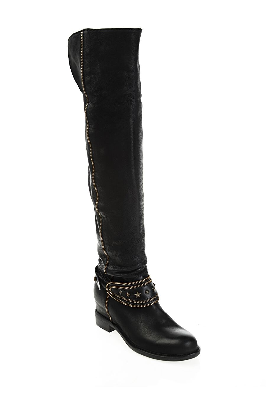 Uzun Siyah Deri Çizme
