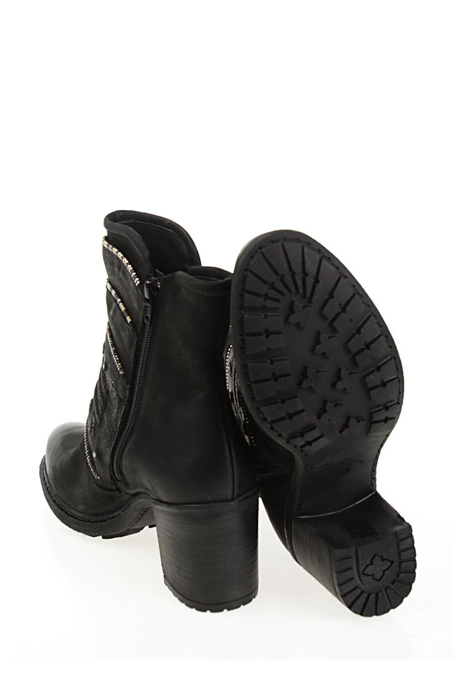 Topuklu Siyah Deri Bot