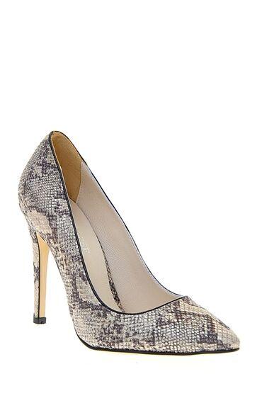 Piton Desenli Stiletto Ayakkabı