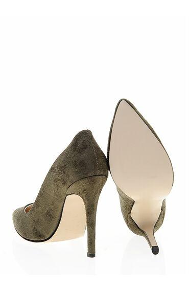 Yağ Yeşili Stiletto Ayakkabı