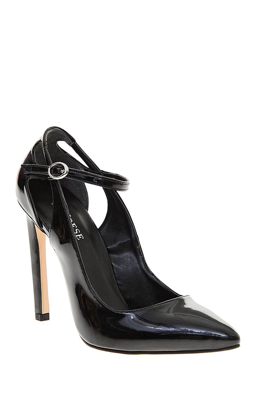 Siyah Rugan Topuklu Ayakkabı