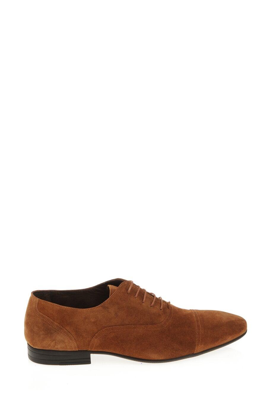 Bağcıklı Kahverengi Süet Ayakkabı