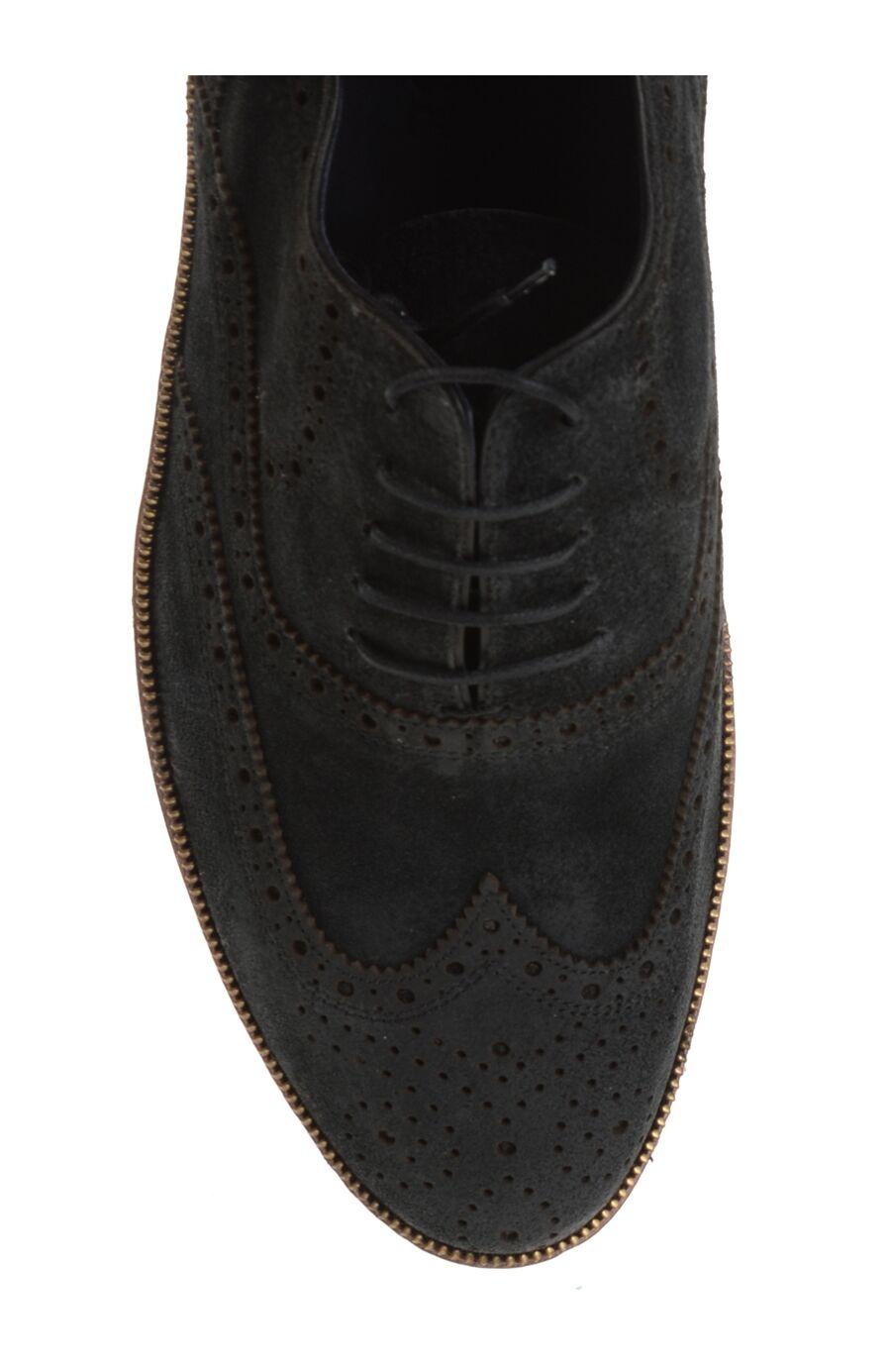 Bağcıklı Gri Süet Ayakkabı
