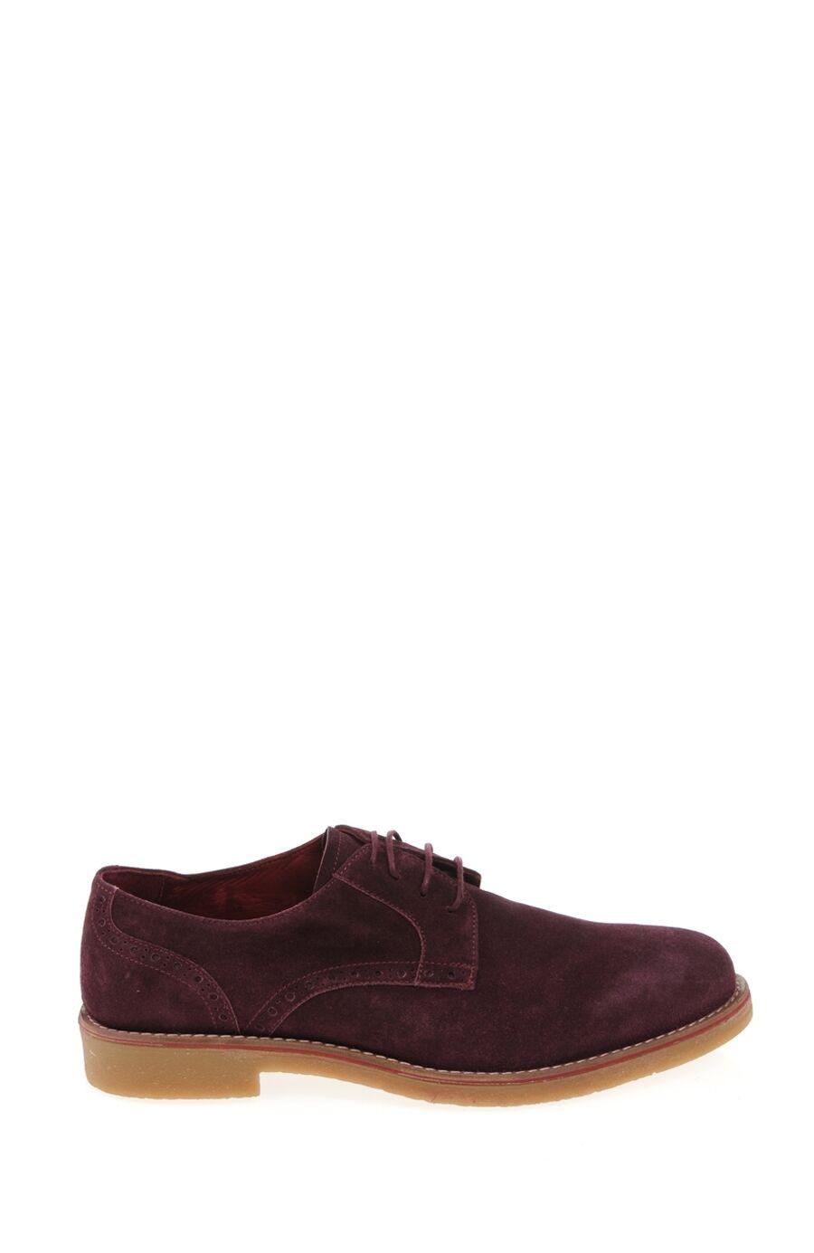 Bağcıklı Bordo Süet Ayakkabı
