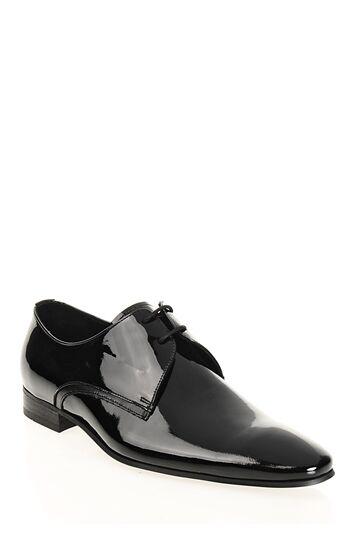 Bağcıklı Siyah Rugan Ayakkabı Divarese