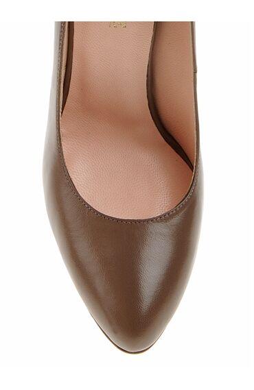 Vizon Deri Topuklu Ayakkabı