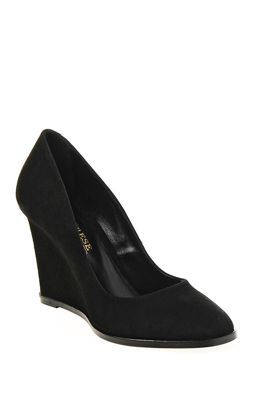 Siyah Süet Dolgu Topuklu Ayakkabı