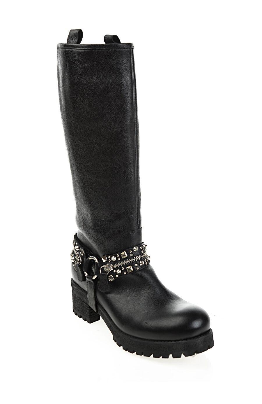 Siyah Deri Çizme