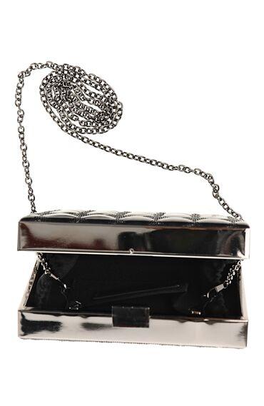Zincir Askılı Siyah Clutch Çanta