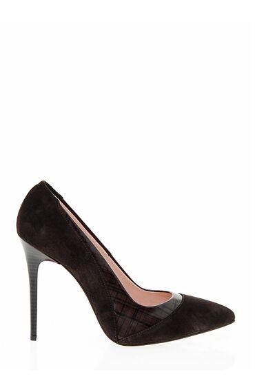 Kahverengi Süet Stiletto Ayakkabı