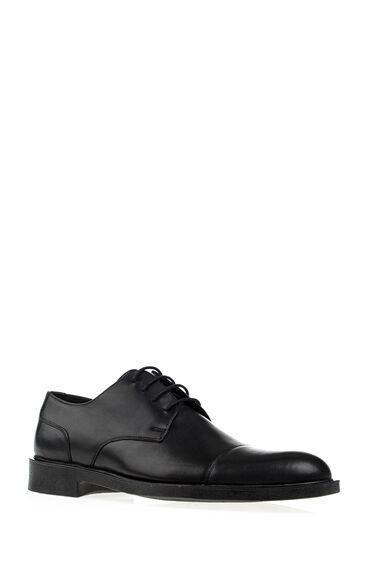 Maskaratlı Siyah Deri Ayakkabı