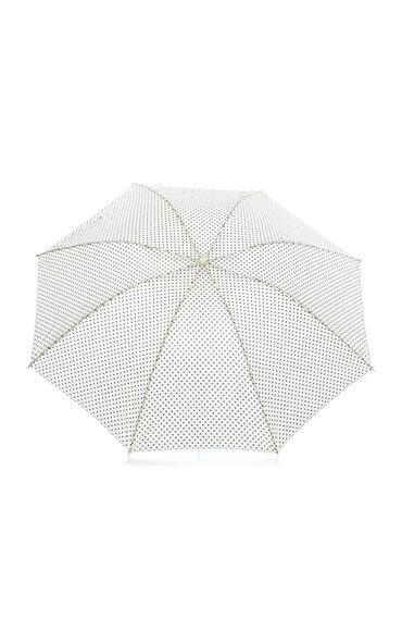 Puantiyeli Bej Şemsiye