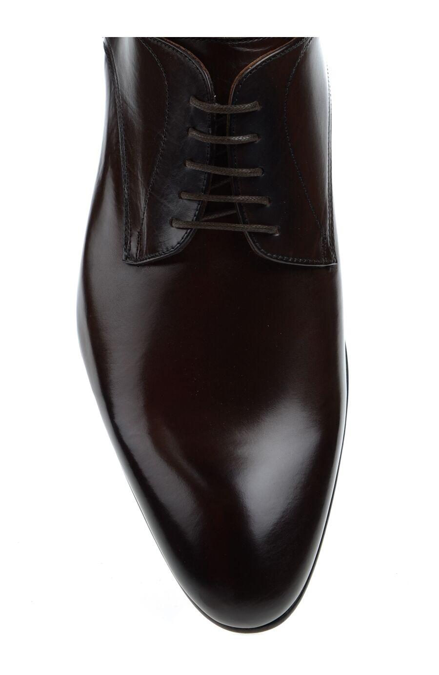 Bağcıklı Kahverengi Deri Ayakkabı