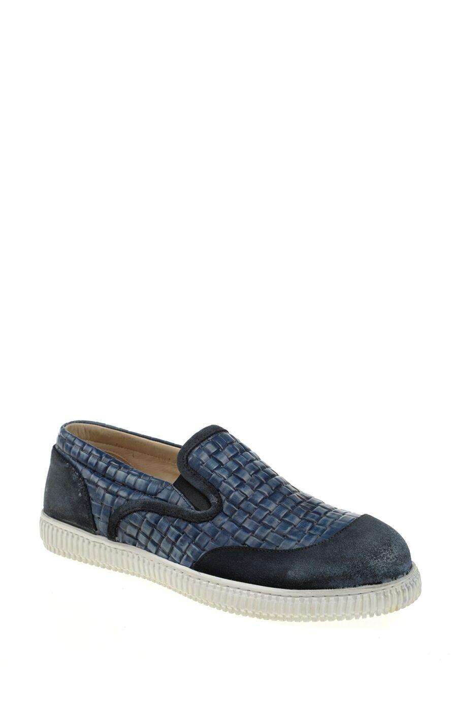 Lacivert Deri Loafer
