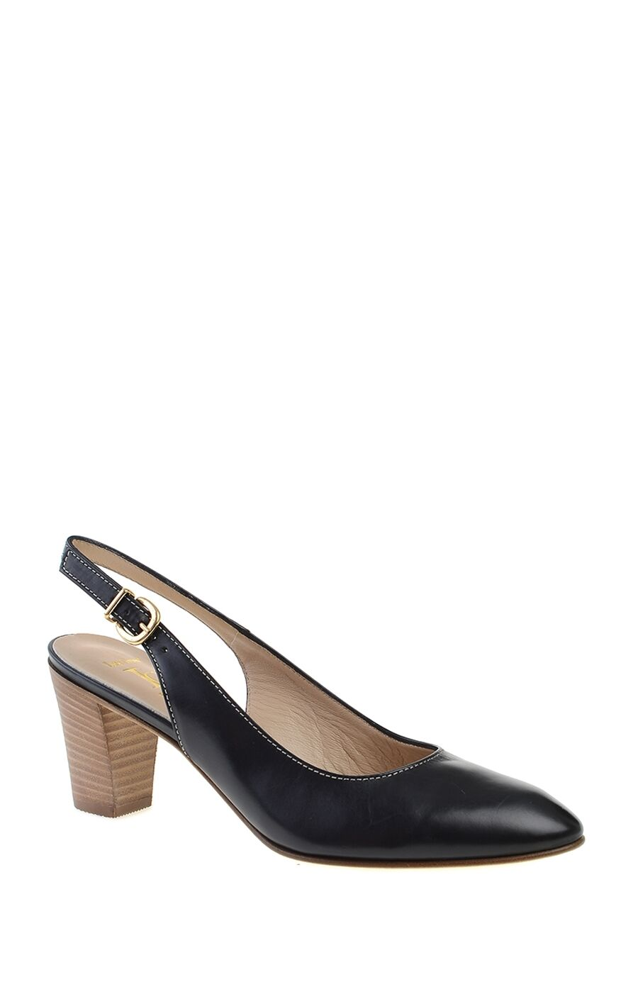 Topuklu Lacivert Deri Ayakkabı