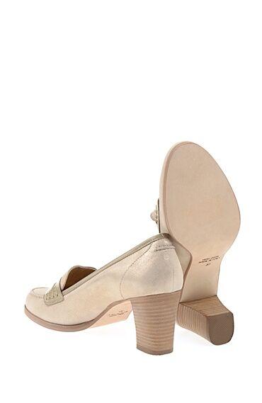 Topuklu Bej Süet Ayakkabı