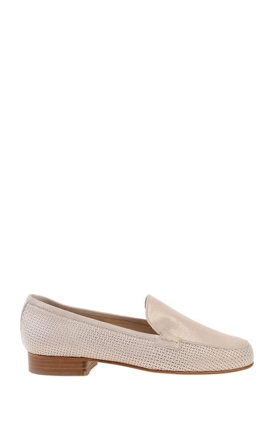 Bej Deri Loafer Ayakkabı