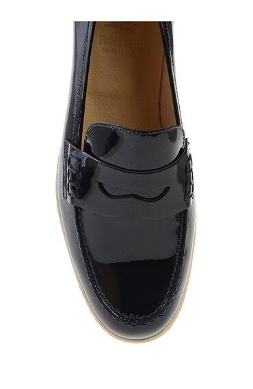 Lacivert Rugan Loafer Ayakkabı