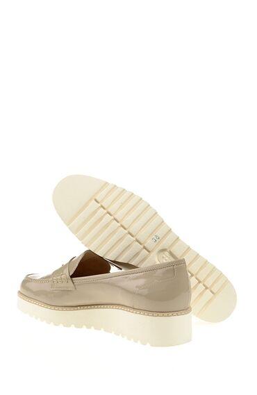 Bej Rugan Loafer Ayakkabı