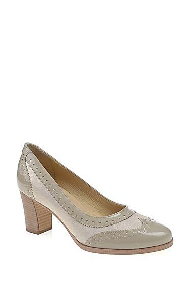 Topuklu Bej Gova Ayakkabı