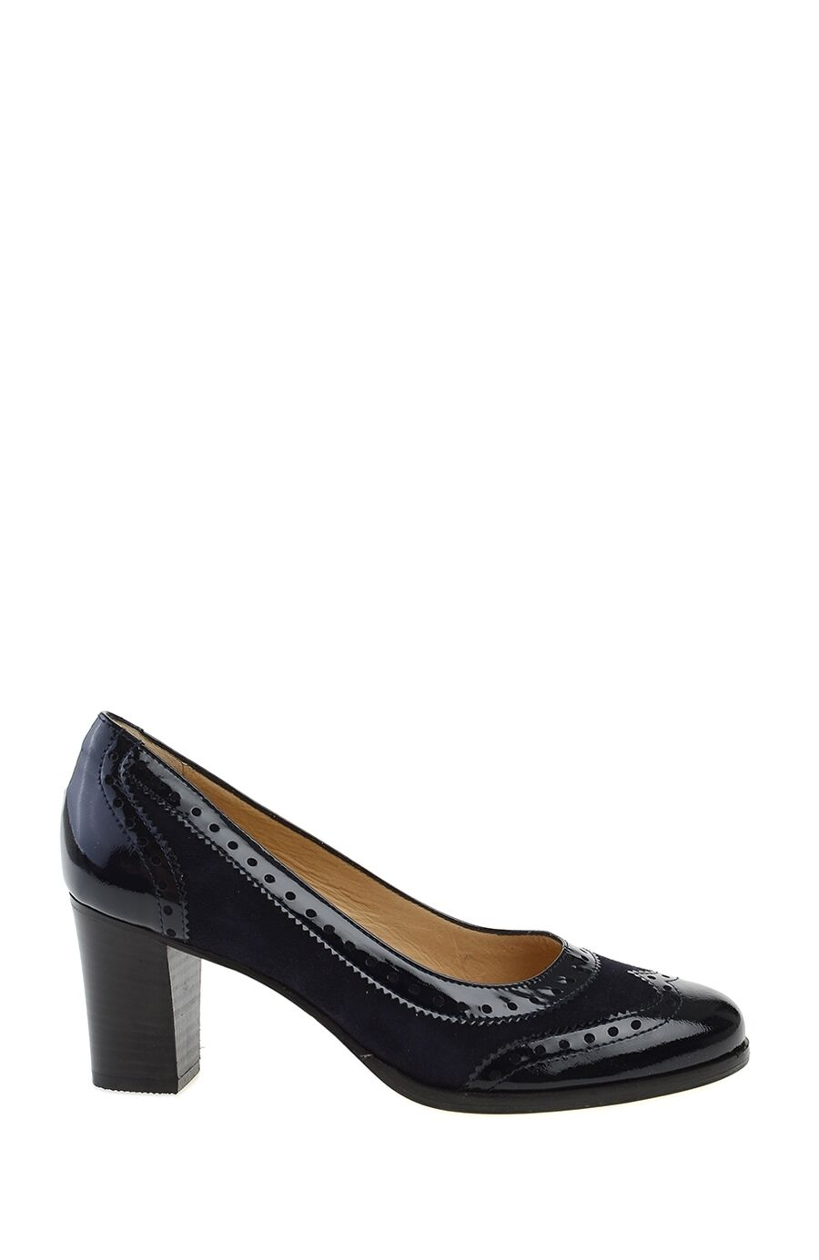 Topuklu Lacivert Gova Ayakkabı