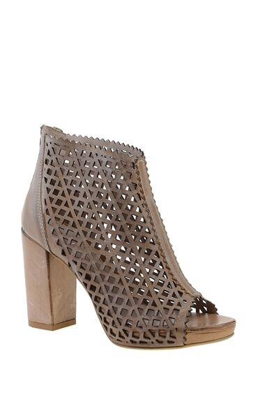 Topuklu Taba Abiye Ayakkabı