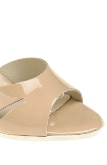 Topuklu Bej Rugan Ayakkabı