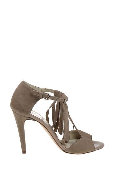 Topuklu Vizon Süet Ayakkabı