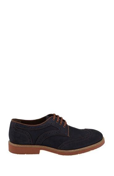 Bağcıklı Lacivert Nubuk Ayakkabı