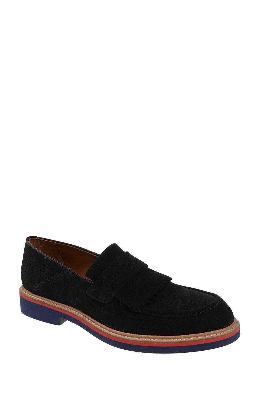 Lacivert Süet Loafer Ayakkabı