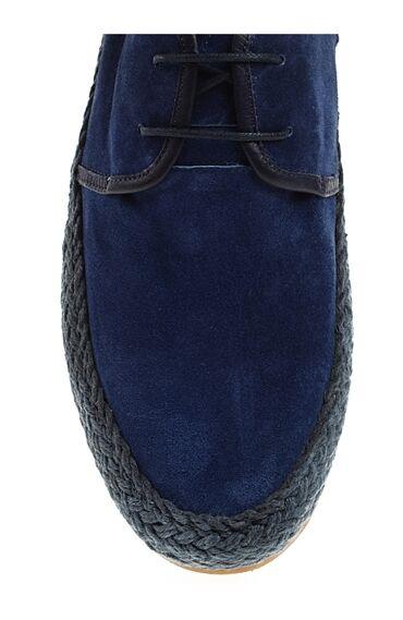 Bağcıklı Indigo Süet Ayakkabı