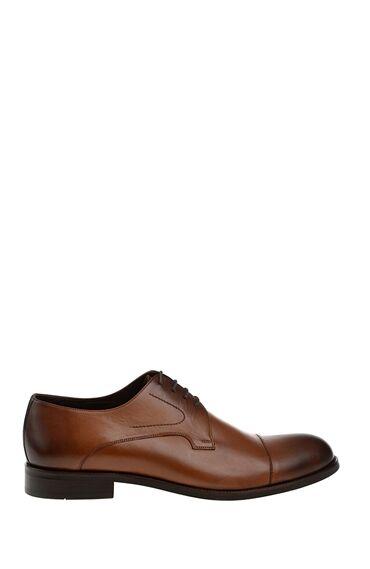 Bağcıklı Taba Deri Ayakkabı