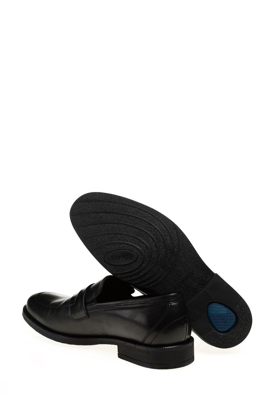 Siyah Deri Loafer Ayakkabı