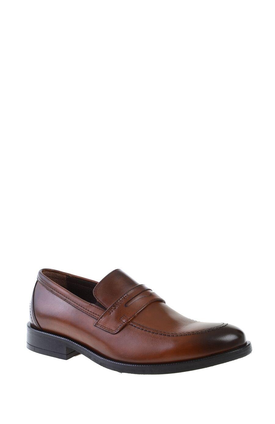 Kahverengi Deri Loafer Ayakkabı